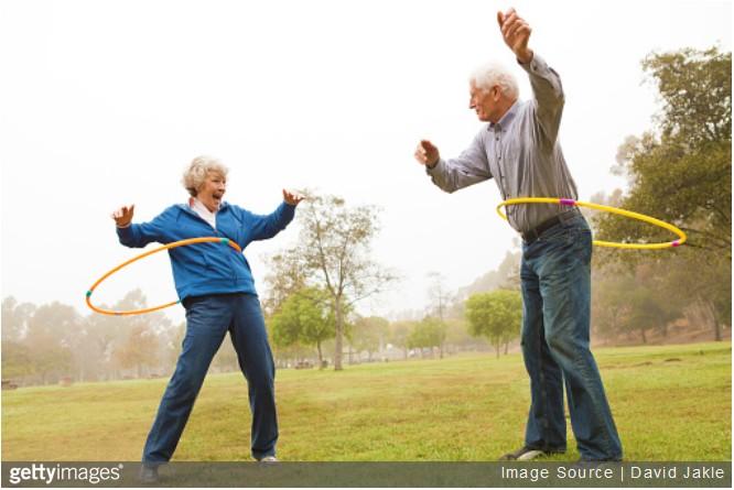 hula hoop personnes agees